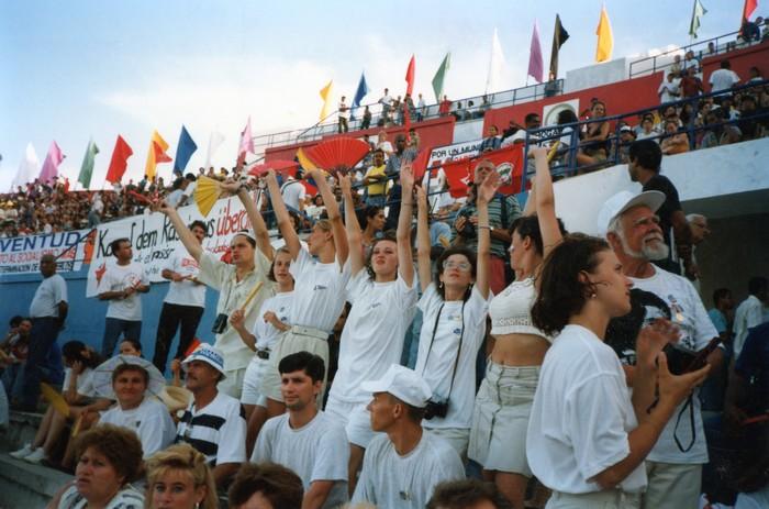 Делегация Хакасии на XIV Фестивале ВФМС (август, 1997 г.)